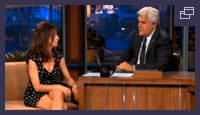 Natasha on the Tonight Show with Jay Leno